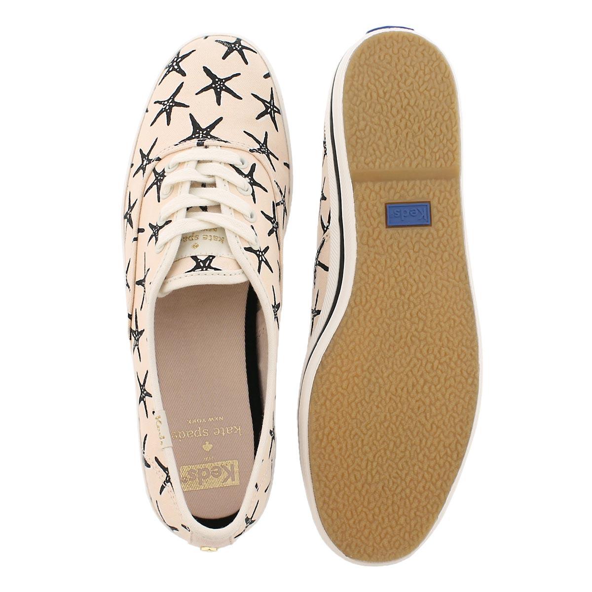 Lds Kate Spade lt pnk/black sneaker