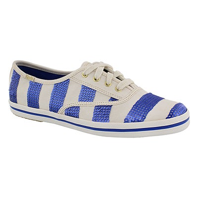 Keds Women's KATE SPADE white/blue stripe sneakers