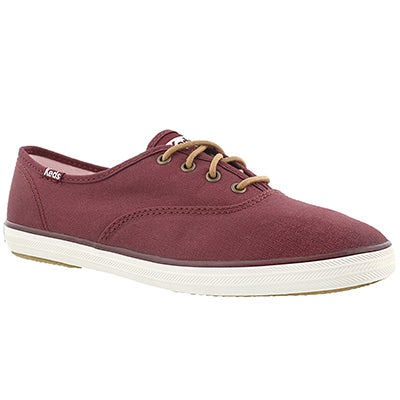 Keds Women's CHAMPION burgundy canvas sneakers