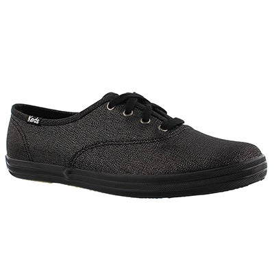 Keds Women's CHAMPION black/black metallic sneakers