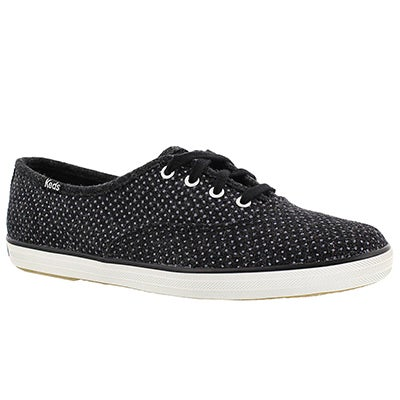 Keds Women's CHAMPION GLITTER WOOL black sneakers