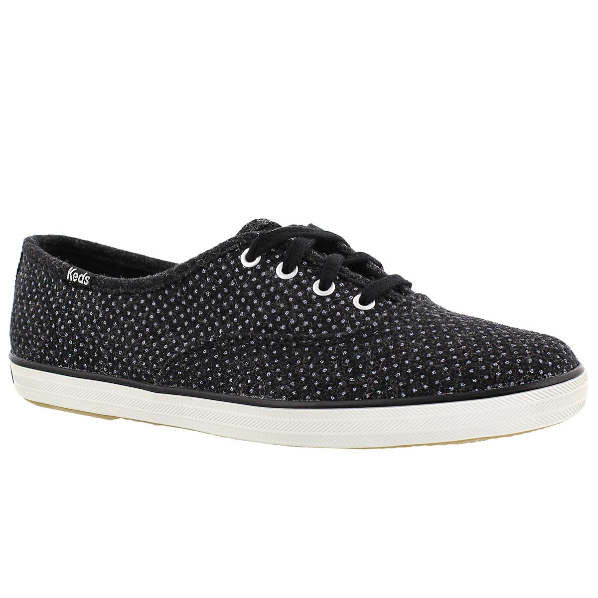 Women's CHAMPION GLITTER WOOL black sneakers
