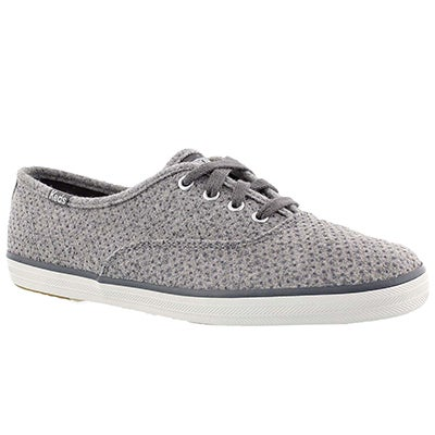 Keds Women's CHAMPION GLITTER WOOL grey sneakers