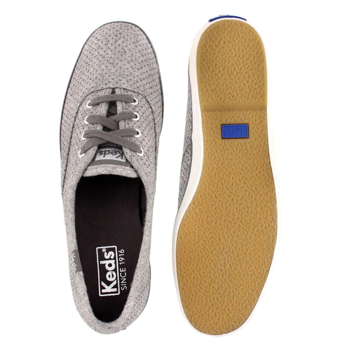 Lds Champion Glitter Wool gry sneaker