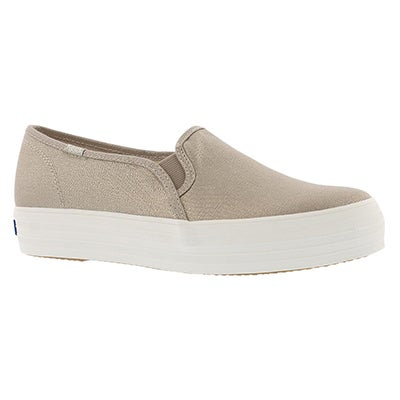 Keds Women's TRIPLE DECKER metallic gold slip ons