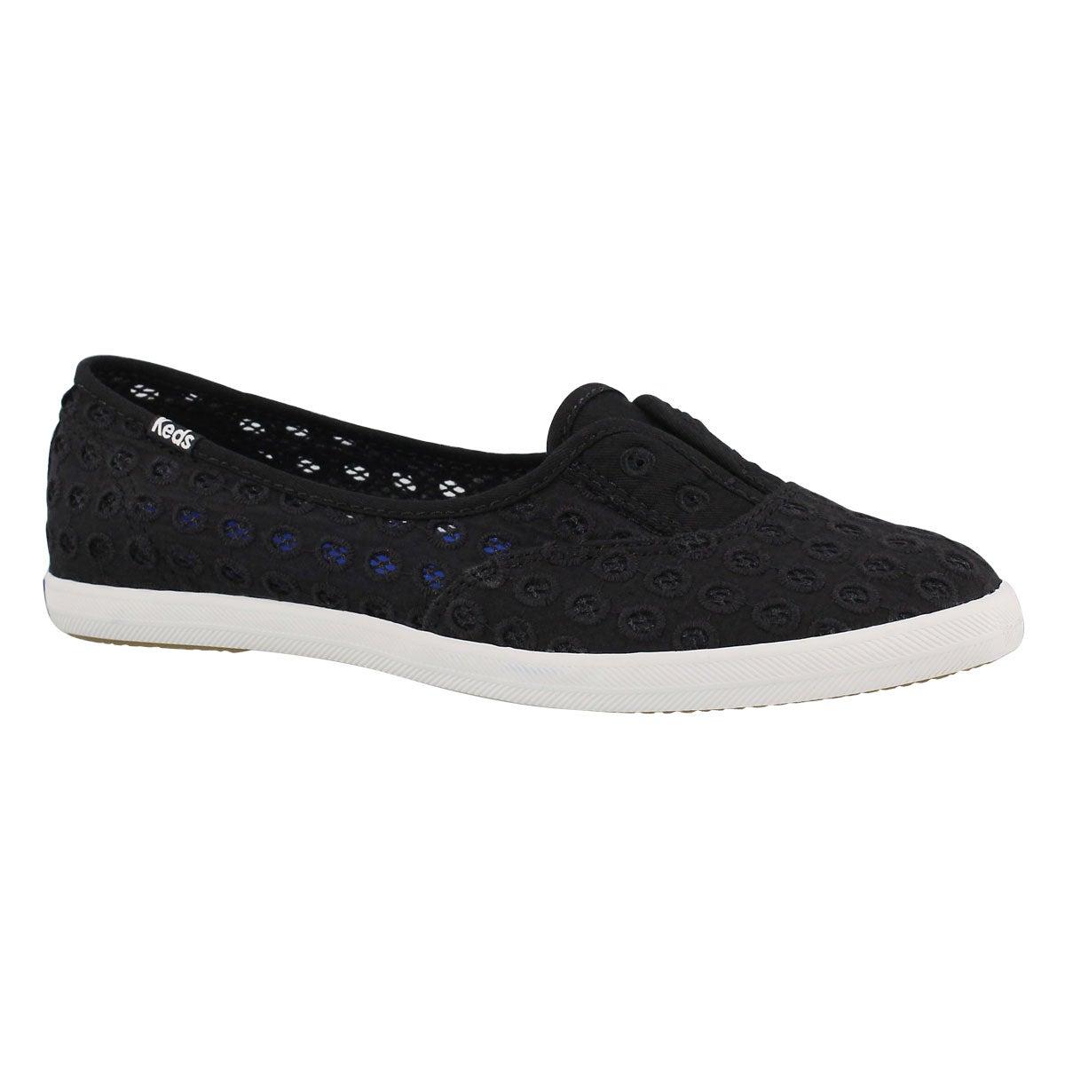 Women's CHILLAX MINI EYELET blk fashion sneakers