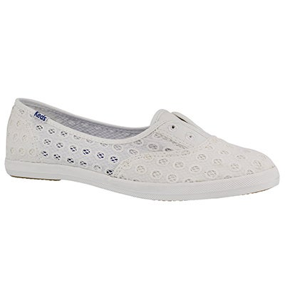 Lds Chillax Mini Eyelet wht fashion snkr