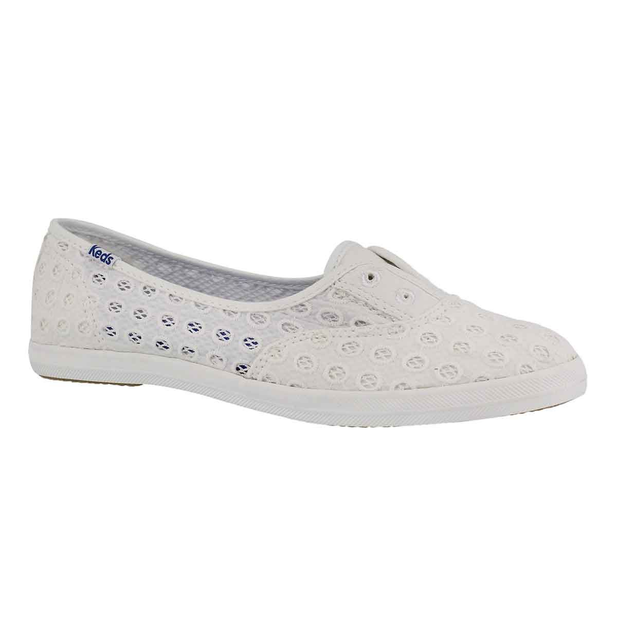 Women's CHILLAX MINI EYELET white fashion sneakers