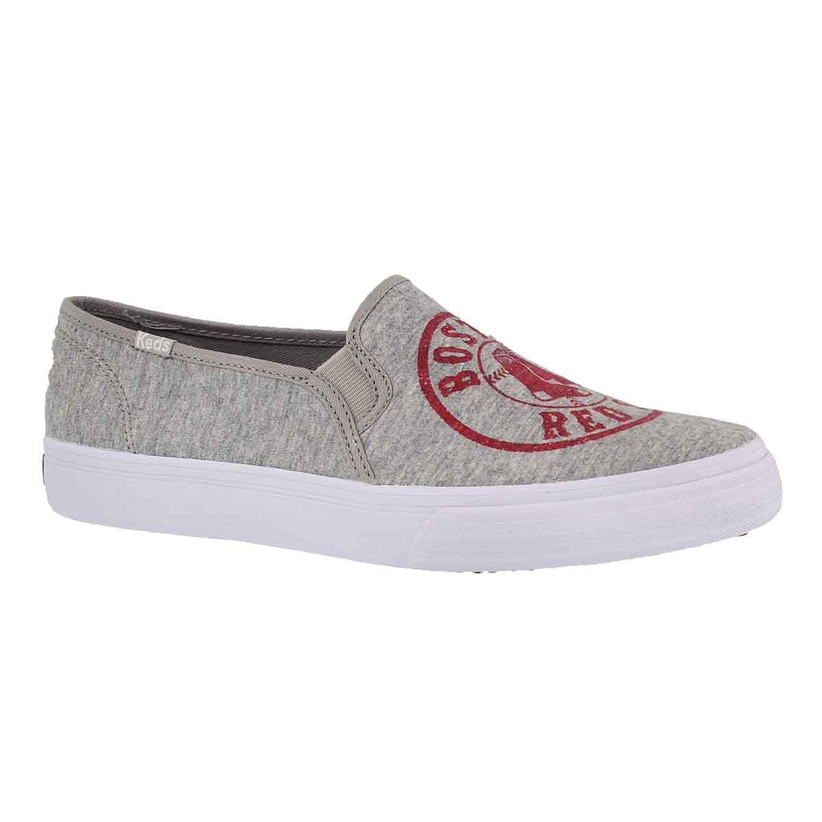 Women's DOUBLE DECKER Red Sox grey sneakers