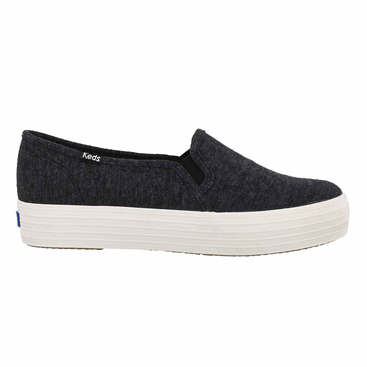 Lds TripleDeckerJersey blk slip on snkr