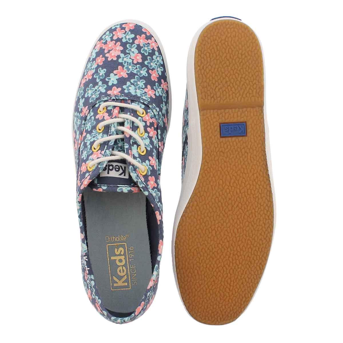 Lds Champion Floral indigo mlti sneaker