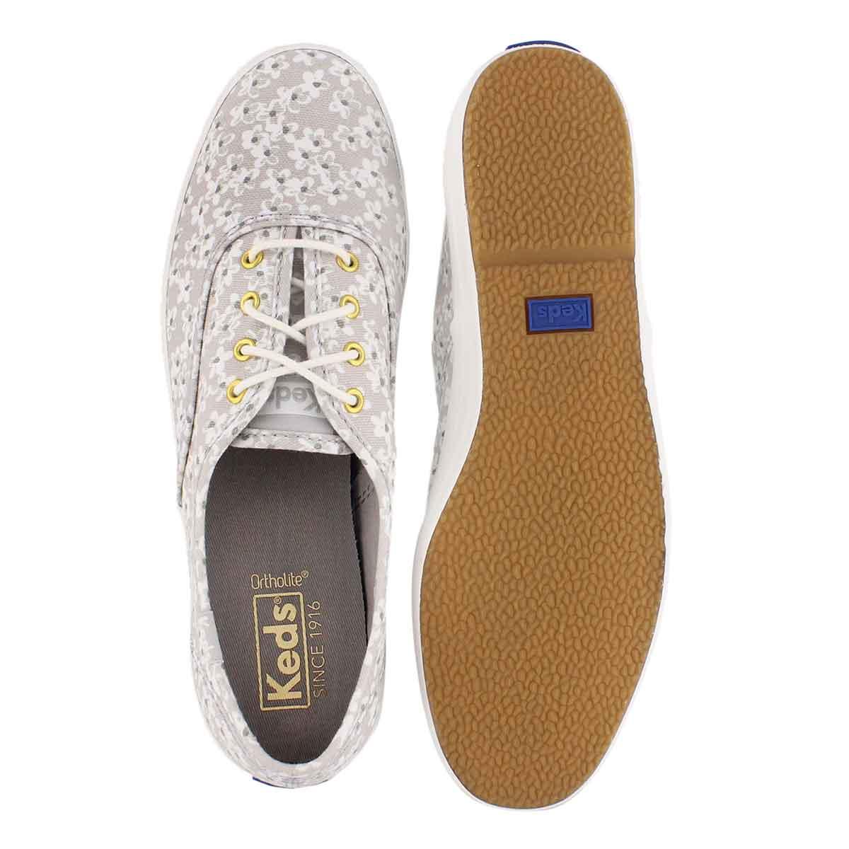 Lds Champion Floral lt grey sneaker