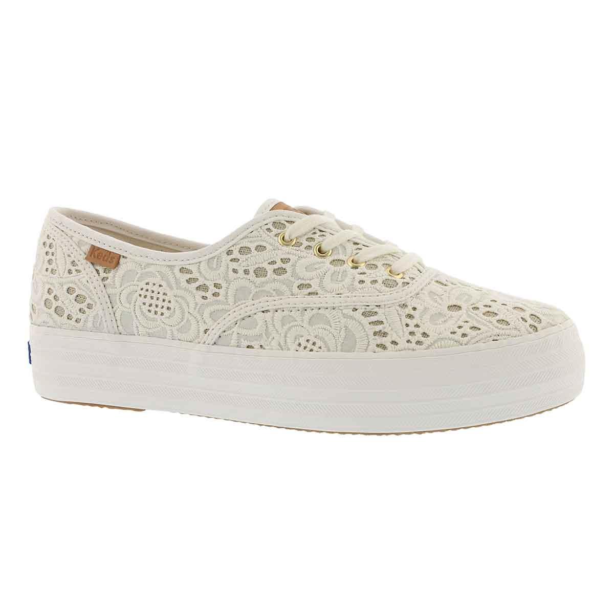 Women's TRIPLE EMBROIDERED CROCHET sneakers