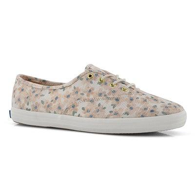 Lds Champion Floral Jacquard pnk sneaker