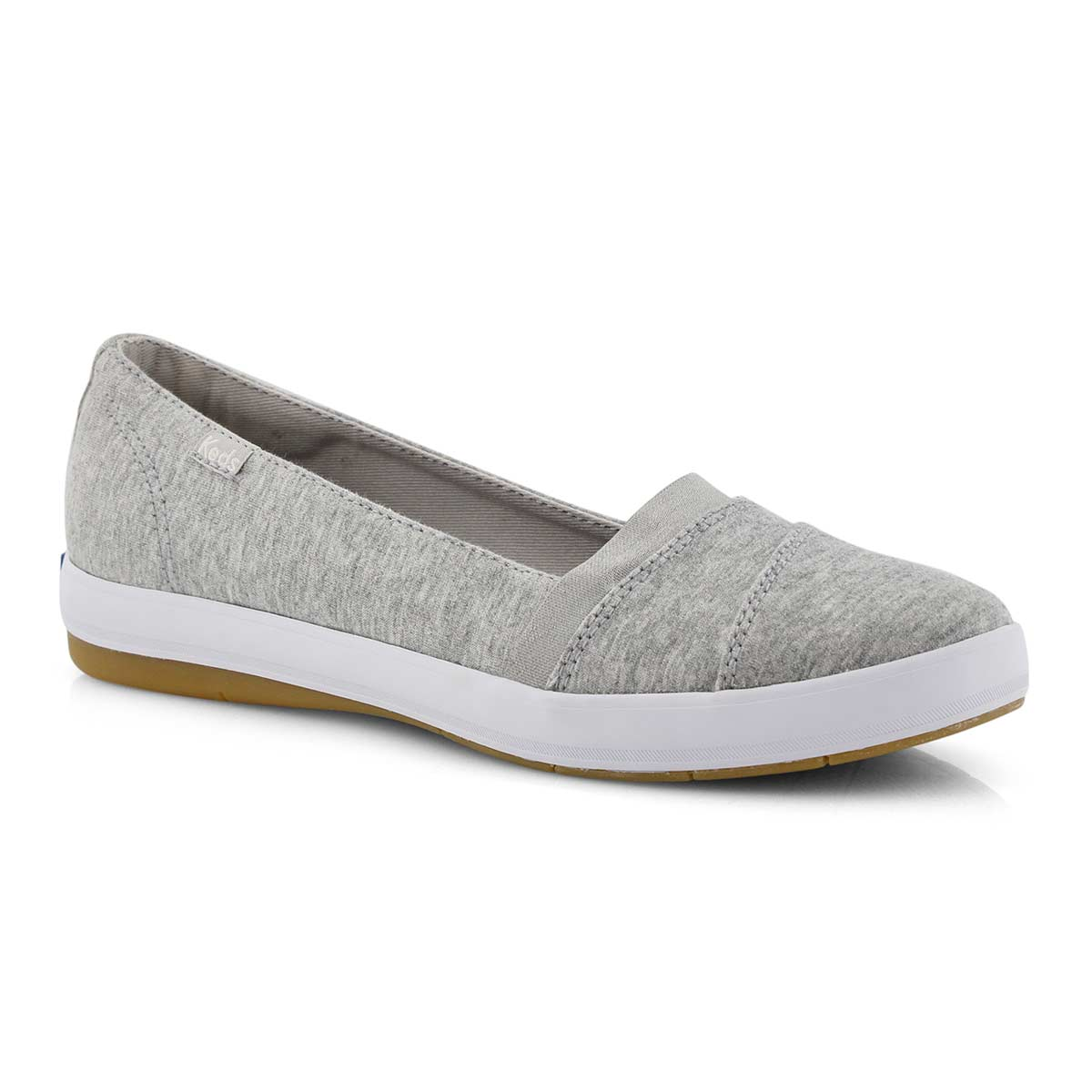 Lds Carmel Jersey lt grey slip on shoe