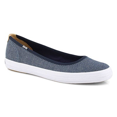 Lds Bryn navy casual slip on