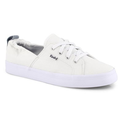 Lds Darcy white lace up sneaker