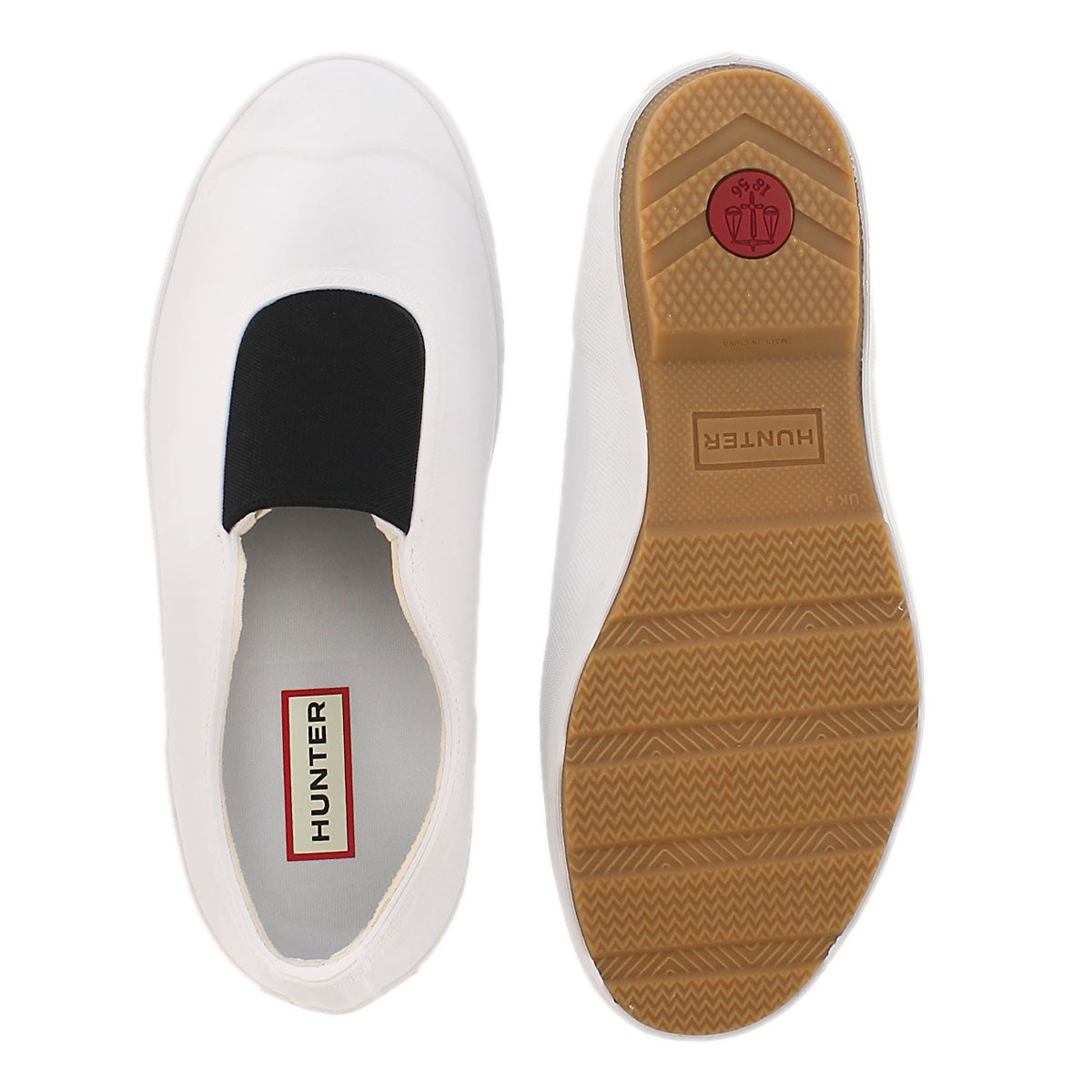 Lds Original Gumsole wht waterproof shoe