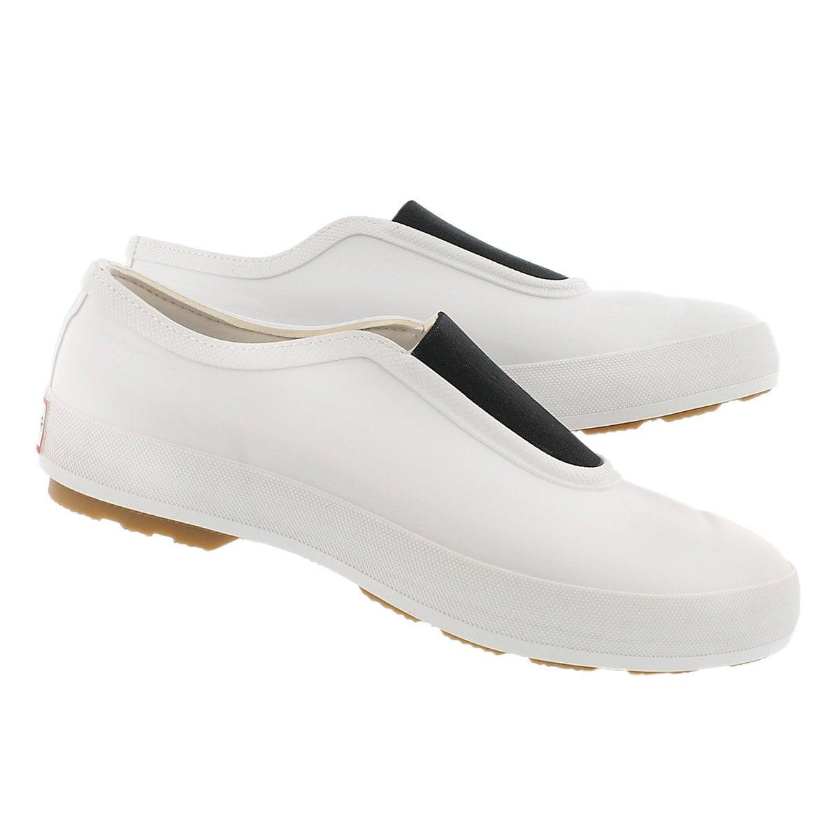 Lds Original Gumsole wht waterproof shoe