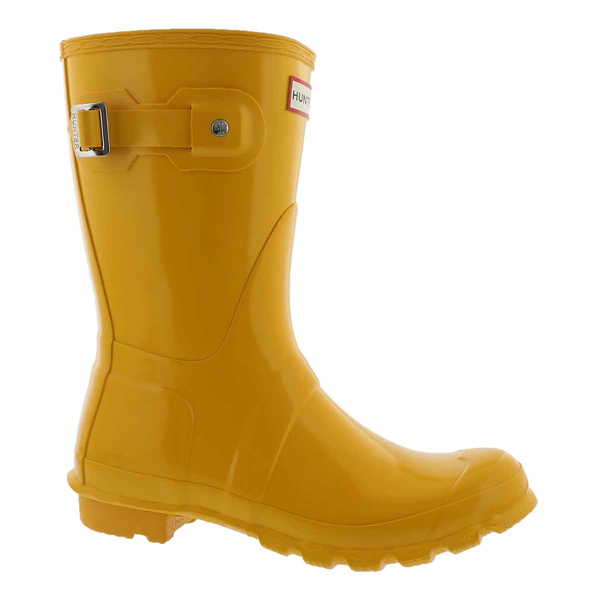 Women's ORIGINAL SHORT GLOSS yellow rain boots