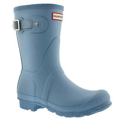 Hunter Women's ORIGINAL SHORT blue sky rain boots