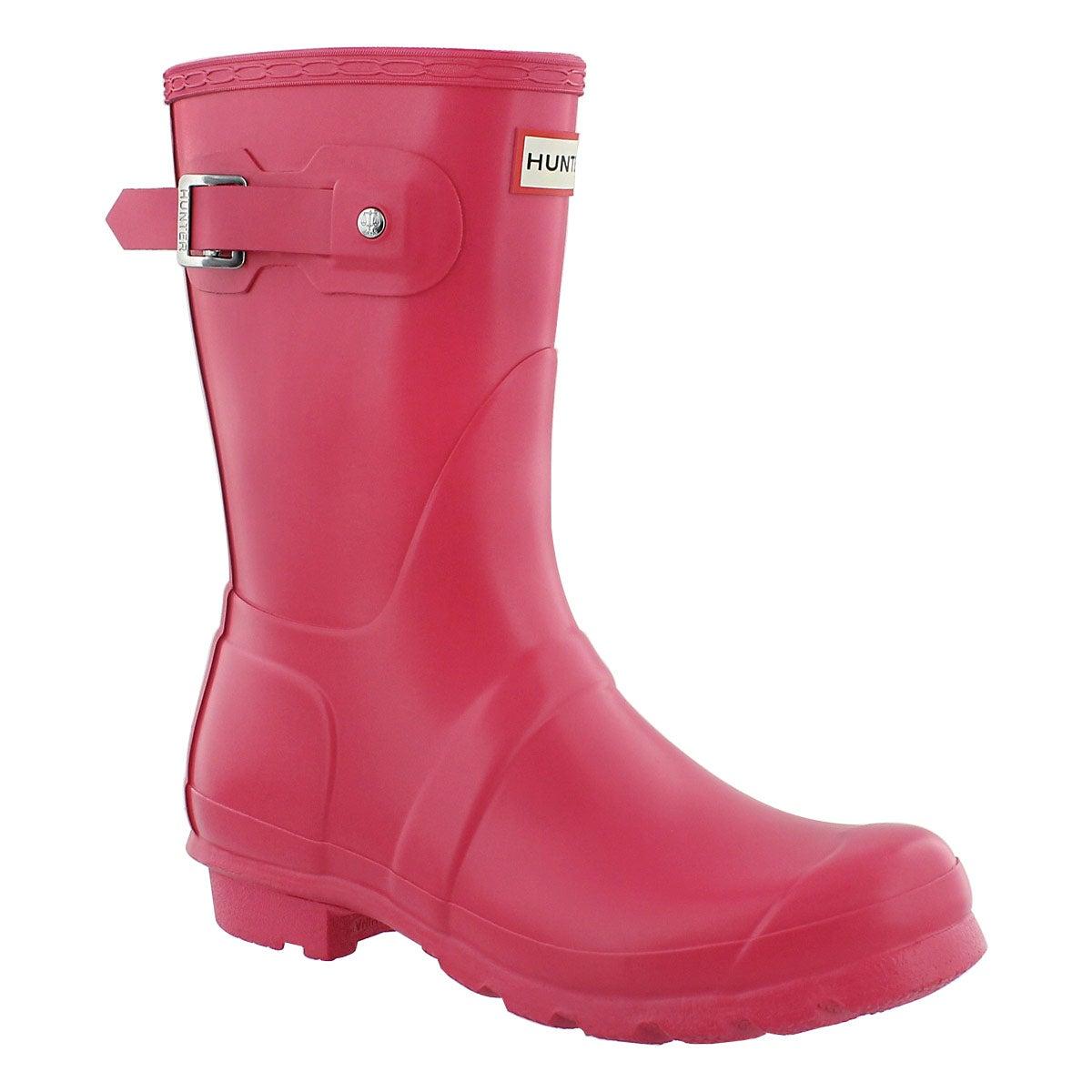 New  Hunter  Hunter Black Original Gloss Short Womens Wellington Boot