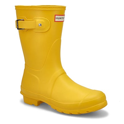 Hunter Women's ORIGINAL SHORT CLASSIC yellow rain boots