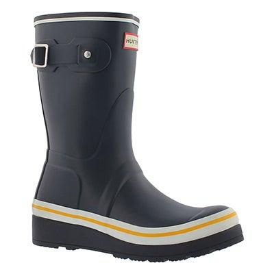Lds ShortBuoyStripes nvy rain boot