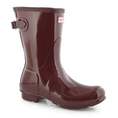 Lds OrgBackAdjGlossShort red rainboot