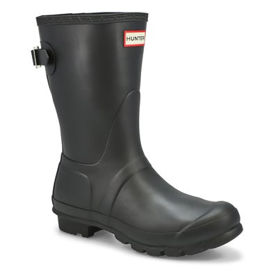 Hunter Women's ORIGINAL ADJUSTABLE SHORT black rain boots