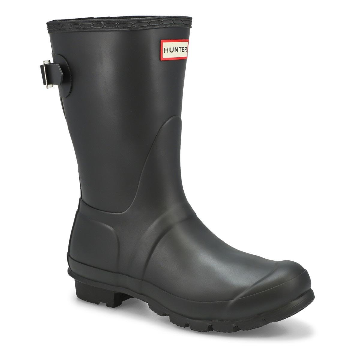 Women's ORIGINAL ADJUSTABLE SHORT black rain boots