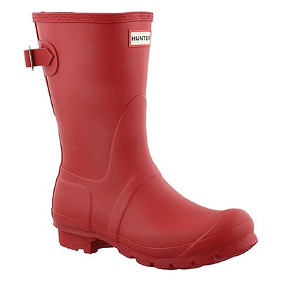 Hunter Botte de pluie rouge ORIGINAL ADJUSTABLE, femmes