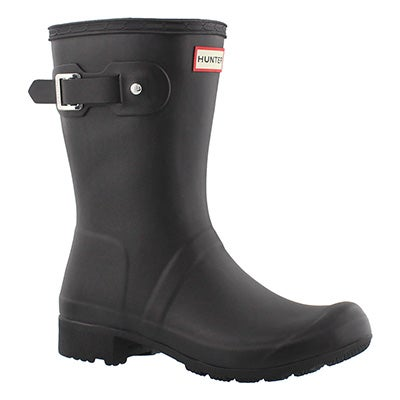 Hunter Women's ORIGINAL TOUR SHORT black rain boots