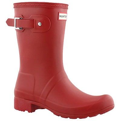 Hunter Bottes de pluie ORIGINAL TOUR SHORT, rouge, femmes