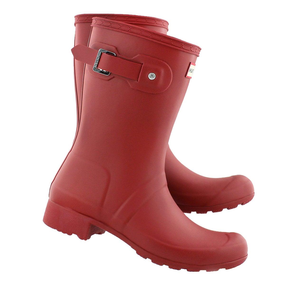 Hunter Women's ORIGINAL TOUR SHORT red rain boots