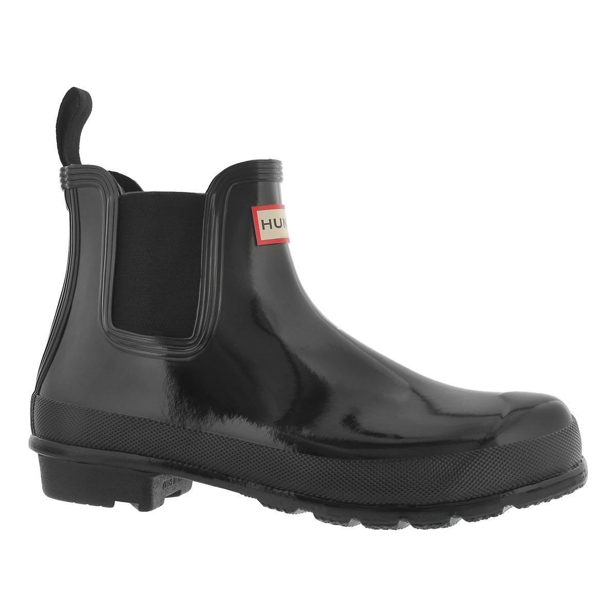 Women's ORIGINAL CHELSEA gloss black rain boots