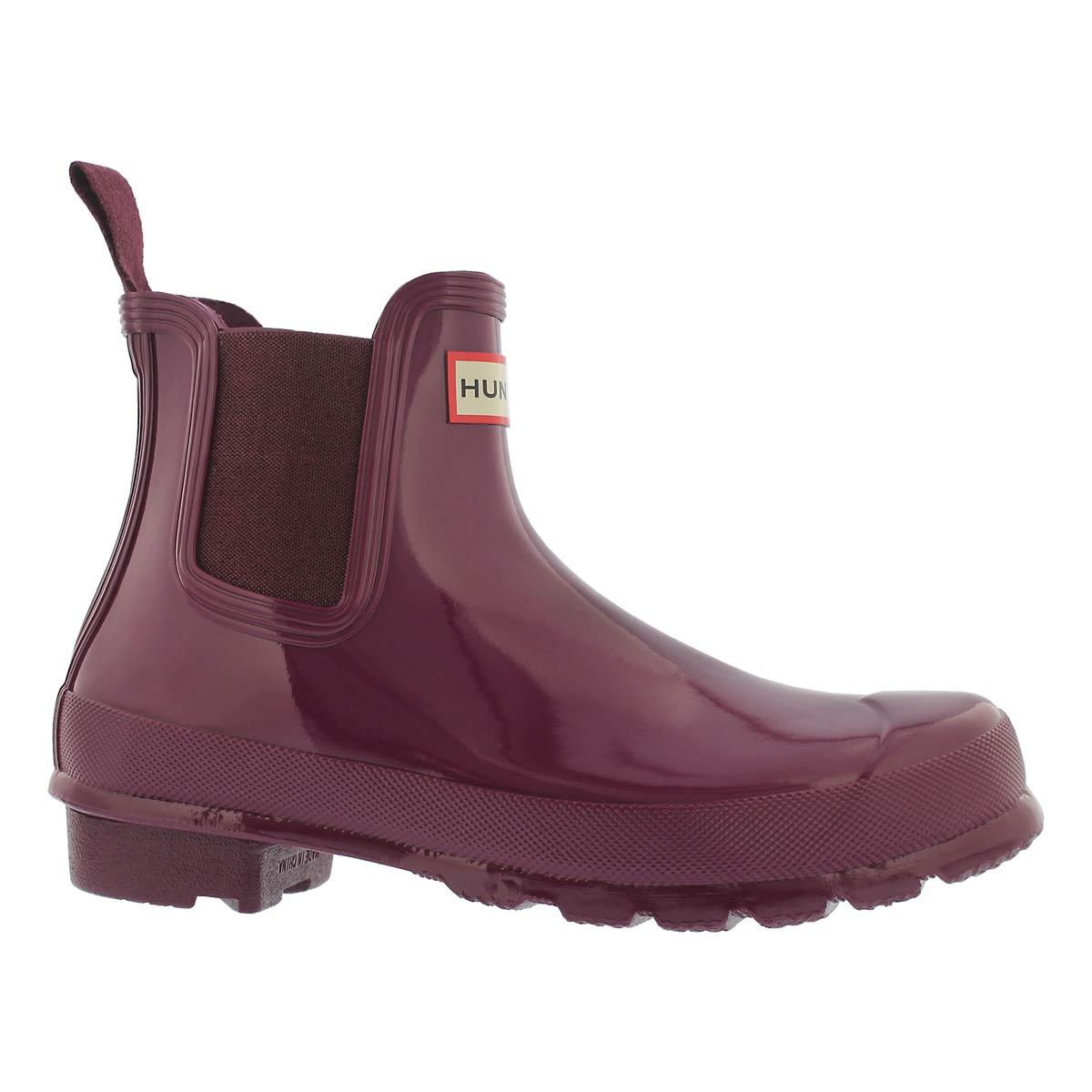 Women's ORIGINAL CHELSEA gloss violet rain boots