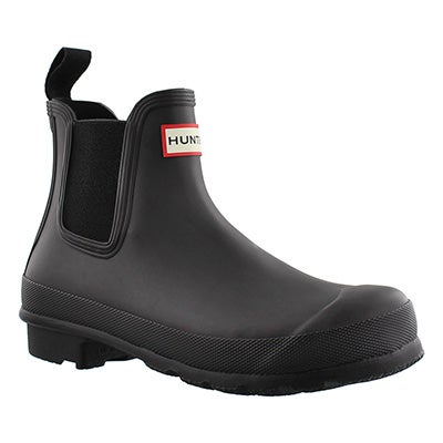 Hunter Women's ORIGINAL CHELSEA ONE TAB black boots