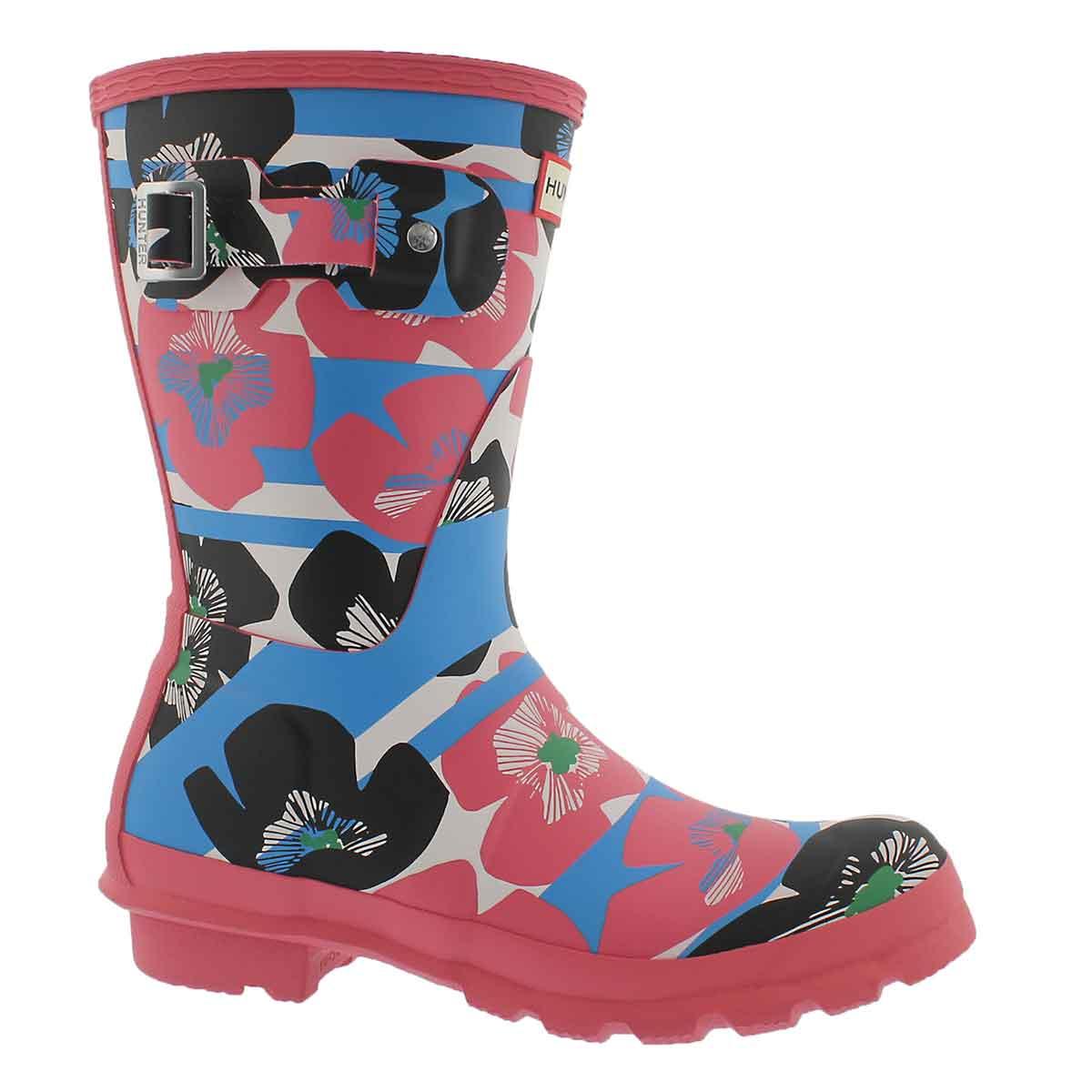 Women's ORIGINAL SHORT FLORAL STRIPE rain boots
