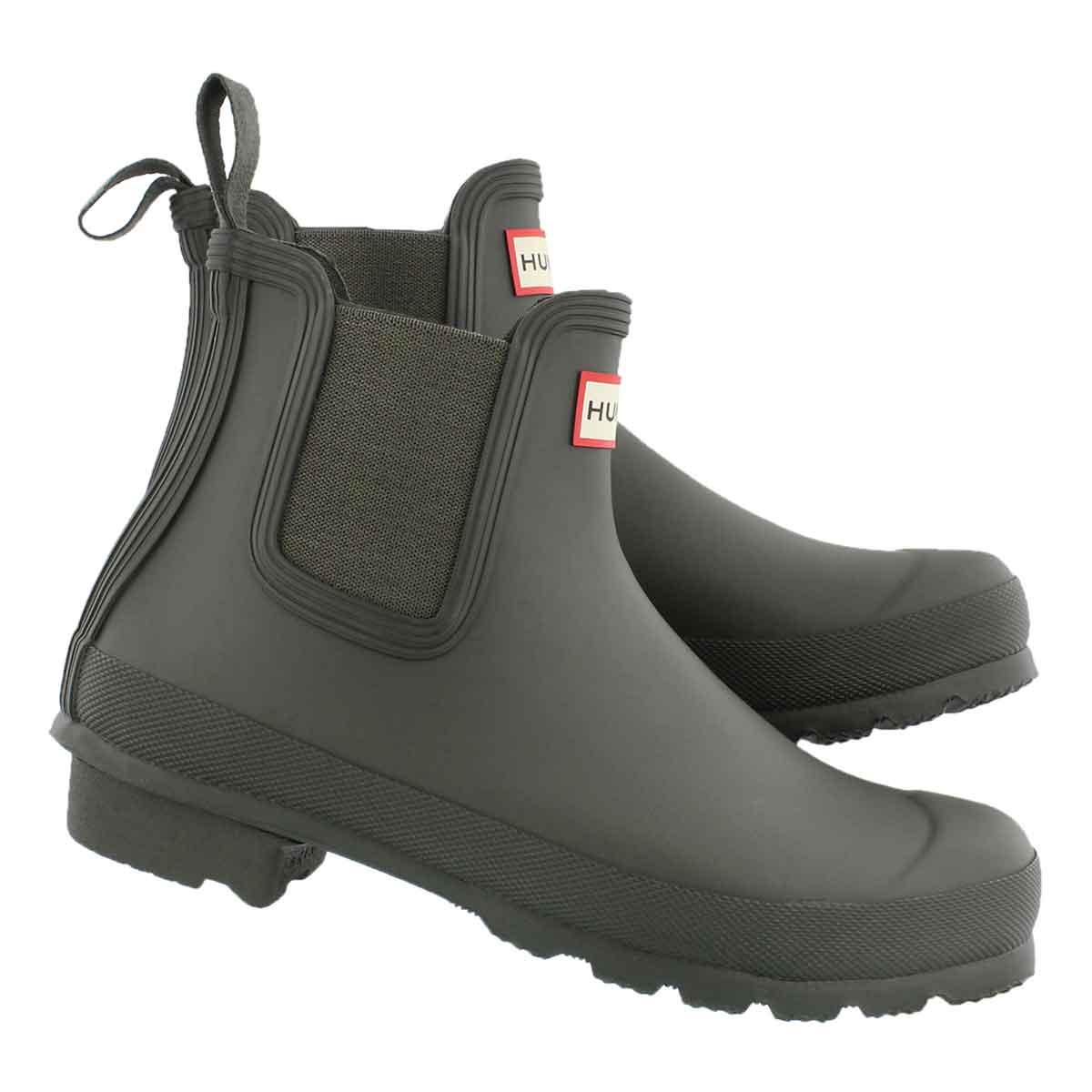 Lds Orig. Chelsea dark olive rain boot