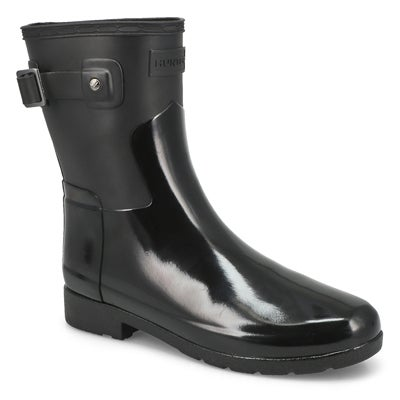 Lds Refined Short Gloss Duo blk rainboot