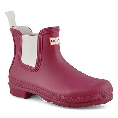 Botte pluie Orig Chelsea, rouge,fem