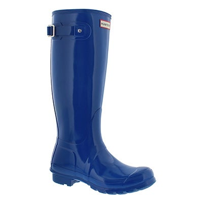 Hunter Women's ORIGINAL TALL GLOSS azure rain boots