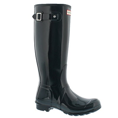 Hunter Women's ORIGINAL TALL GLOSS ocean rain boots