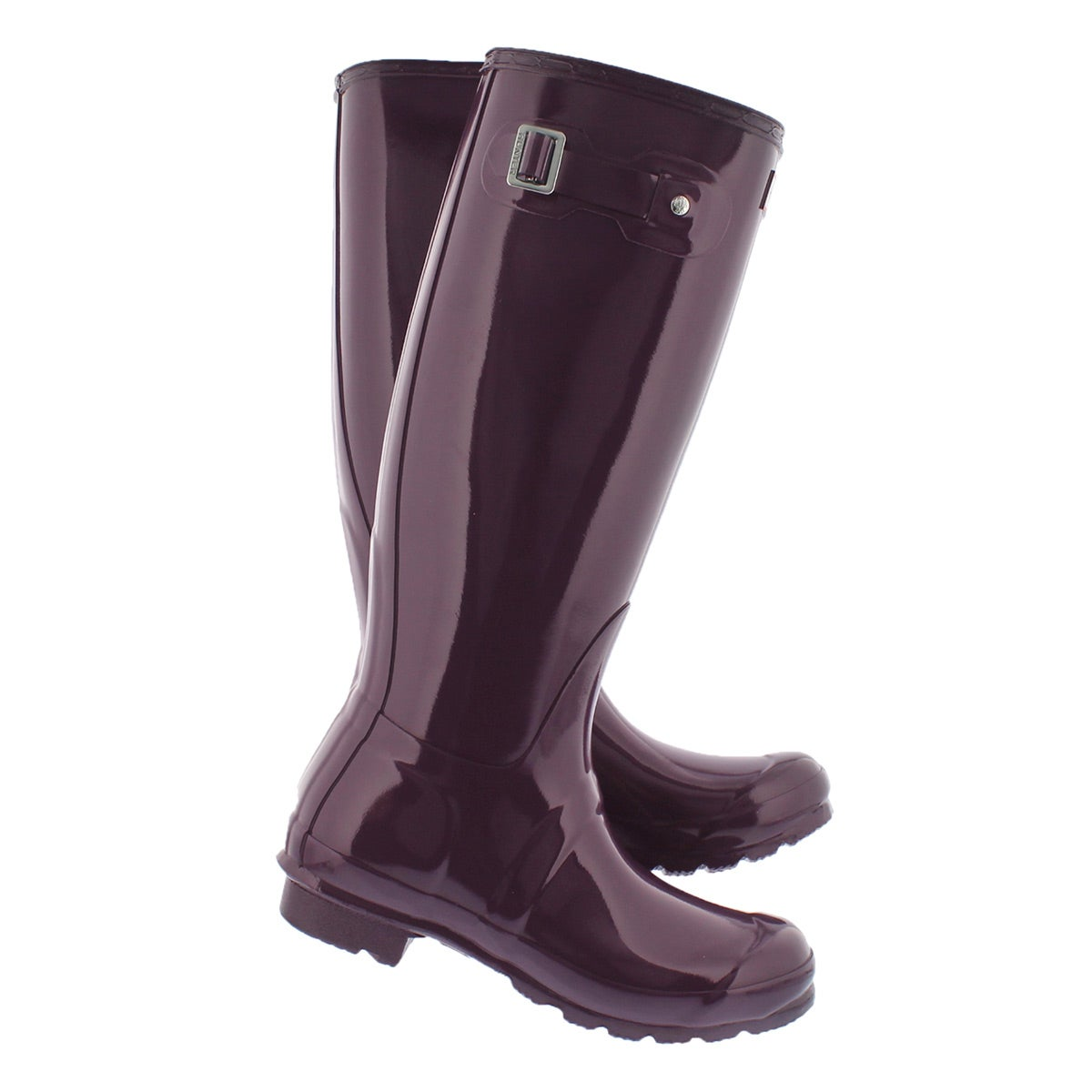 Hunter Women's ORIGINAL TALL GLOSS purple rain boots