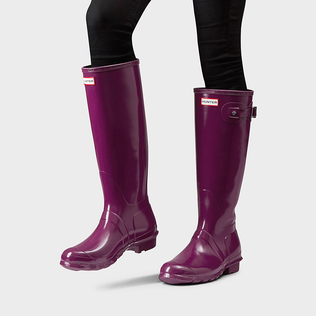 Lds Original Tall Gloss purple rain boot