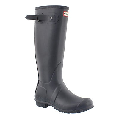 Hunter Women's ORIGINAL TALL CLASSIC grey rain boots