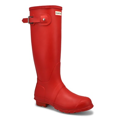 Hunter Women's ORIGINAL TALL CLASSIC red rain boots