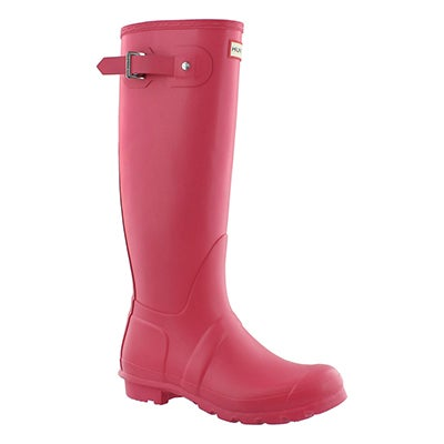 Hunter Women's ORIGINAL TALL CLASSIC pink rain boots