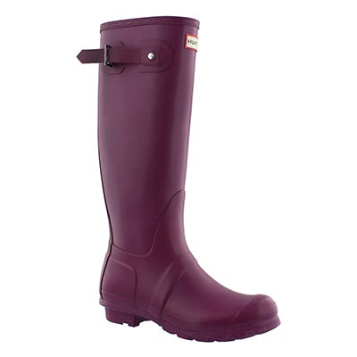 Hunter Women's ORIGINAL TALL CLASSIC violet rain boots